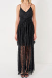 1310155 Black Lace Dress