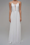 1310270 White Slip Chiffon Dress
