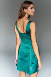 4610012 Emerald Green Corset Detail Dress