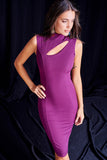 4510060 Plum Chest Decollete Dress