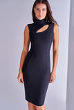 4510707 Black Chest Decollete Dress