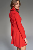 4510736 Red Jacket Style Dress