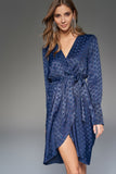 4510740 Navy Pattern Satin Dress
