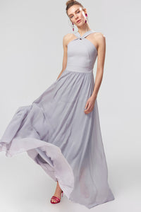 1310111 Grey Halterneck Dress