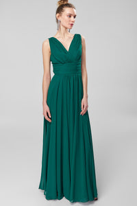 1310234 Green Draped Dress
