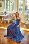 1310262 Blue Strapless Gown