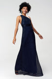 1310231 Navy Blue Glitter Dress
