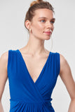 1310314 Blue Ruched Maxi Dress