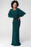1310185 Green Open Back Maxi Dress
