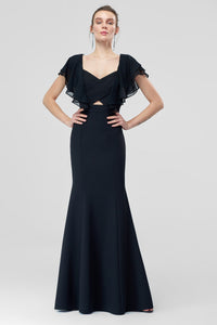 1310406 Black Ruffle Mermaid Dress