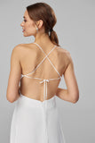1310397 Off-White Lace Strappy Dress