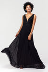 1310252 Black Pleated Maxi Dress