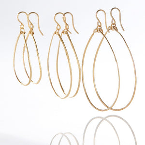 Gold Filled Handforged Teardrop Collection