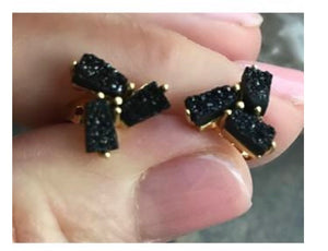 Drusy Ladder Studs