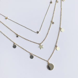 Triple Star Choker Necklace