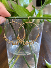 Gold Disc Fringe Hoops