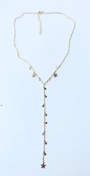 Starry Y necklace