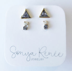 Silver Lining Studs Set