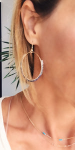 Neutral ombre hoops