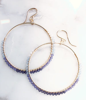 Bluebird Hoops Ombre