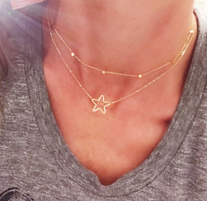 Wire wrapped little star Necklace