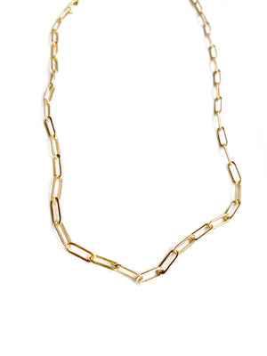 Gold Plated Paperclip chain