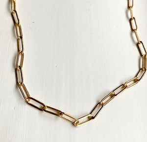 Gold Filled Paperclip chain