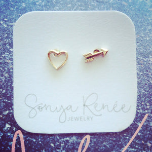 Heart & Arrow Studs
