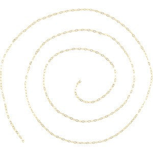 14kt yellow gold Cable Chain - 0.5mm