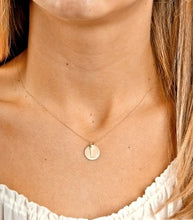 14kt Gold Disc Initials (Best Seller)