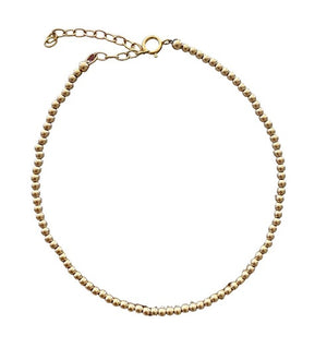 Gold ball anklet