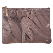 Flat Pouch Metallic Pewter