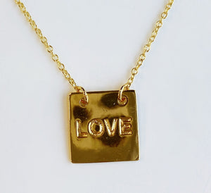 Love Rectangle Pendant