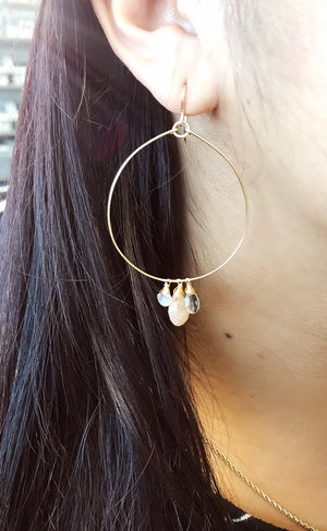 Peaches N Cream Hoops