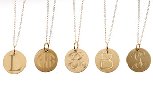 14kt Gold Disc on Chain