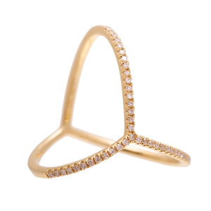 Arrow Ring - 14kt Diamond