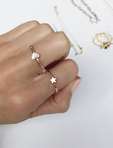 love & stars stretch ring sets