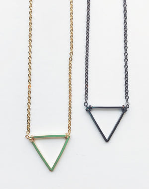Open Triangle Necklace