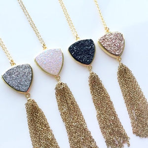 Trillion Drusy Necklace