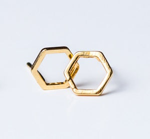 Teency Hex Studs