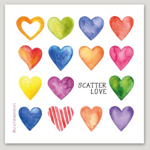 """Scatter Love"" - Vinyl Sticker"