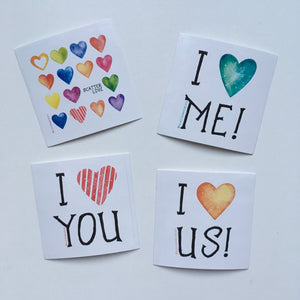 "4 Pack ""Love"" - Vinyl Stickers"