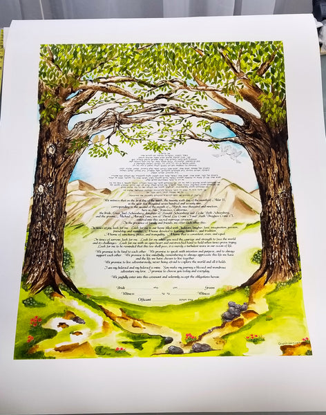 Our Journey Ketubah