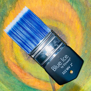 "Blue Ice Palmer Wave 2"" Brush - Michelle Nicole's ARTiSTiC ViVATiONS"