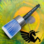 "Blue Ice Round 2"" Brush - Wax or Buff - Michelle Nicole's ARTiSTiC ViVATiONS"