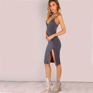 Split Side Cami Dress