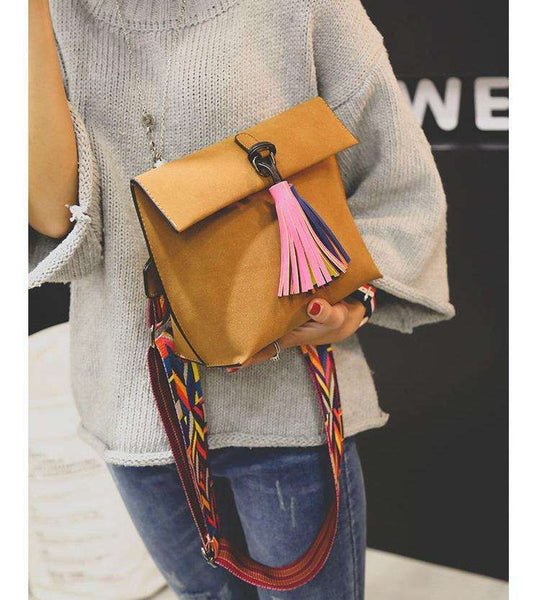 Boho Chic Faux Leather Satchel