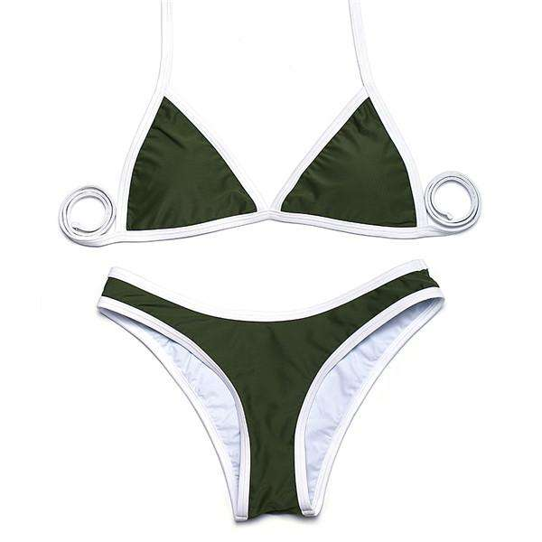 Basic Triangle Minimal Bikini Set