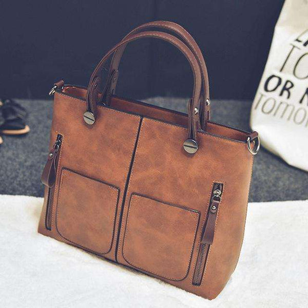 Vintage Faux Leather Handbag