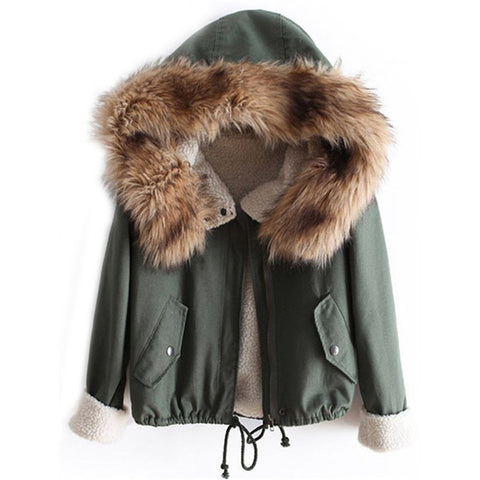 Faux Fur Hooded Drawstring Parker